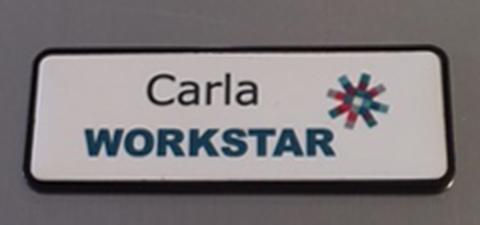 Name Plate Engravers name badge Workstar