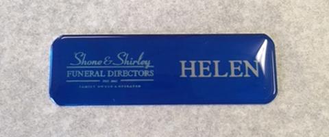 Badge Name thinName Plate Engravers