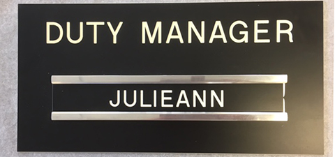 Duty Manager Sign small