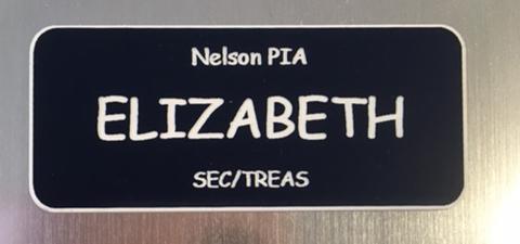 Name Plate Engravers name badge Elizabeth