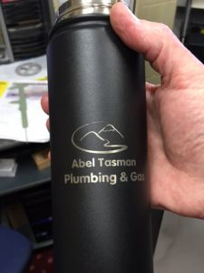 Business engraved water bottle