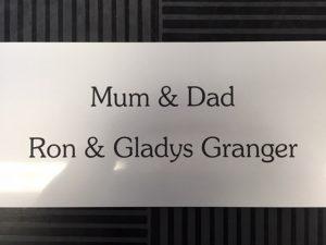 Mum and Dad engraving
